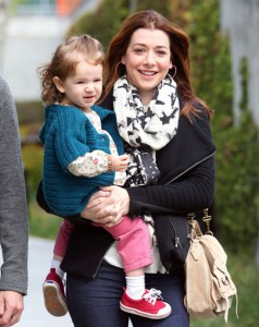 Alyson Hannigan And Family At The Skirball Cultural Center